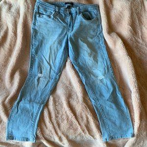White House black market girlfriend jeans
